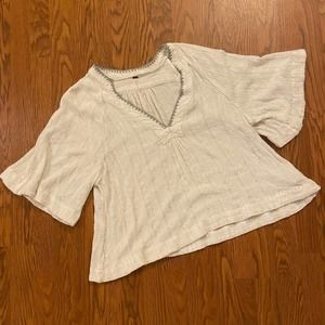 Free People Get Over It Top White Medium